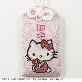 72号ハローキティ御守(オスワリ) 白/ピンク
