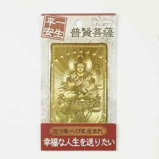 金運護符 辰・巳 普賢菩薩(一生平安)